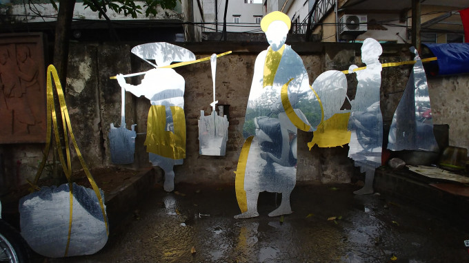 """Street vendors"", ""Indochina reliefs""- Phuc Tan Public Art Project 2020"